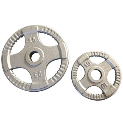 Olympic Quad Grip Steel Weight Plate