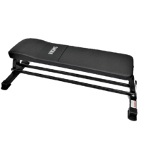 Viking Flat Bench with Dumbbell Rack