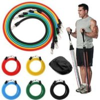Exercise Resistance Bands Set - 5 Tubes with Handles