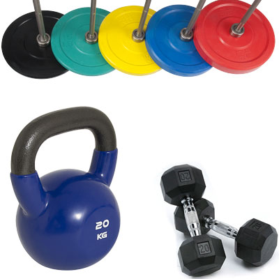 Dumbbells, Weight Plates & Kettlebells