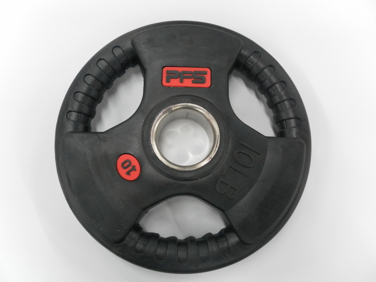PFS 10lb Rubber Tri Grip Olympic Plate