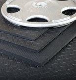 """Rubber Mat Sport Flooring 6'x4'x3/8"""""""