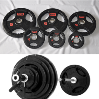 280 LB Olympic Tri Grip Premium Rubber Plate Set