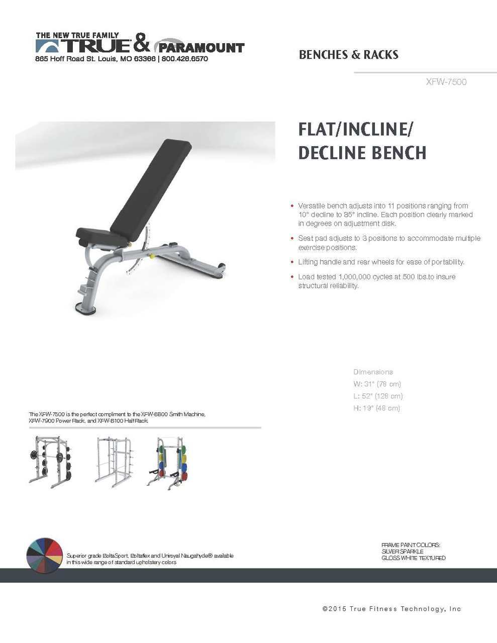 Flat Incline Decline Bench Paramount Fitness Physique