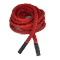 "50'x1.5"" Premium Battle Rope w/Sleeve & Aluminum Grips"