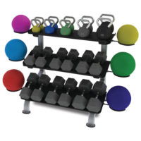 TRUE FS-24 3-Tier Flat Tray Dumbbell Rack
